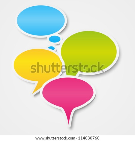 Speech bubbles background with place for text - stock vector