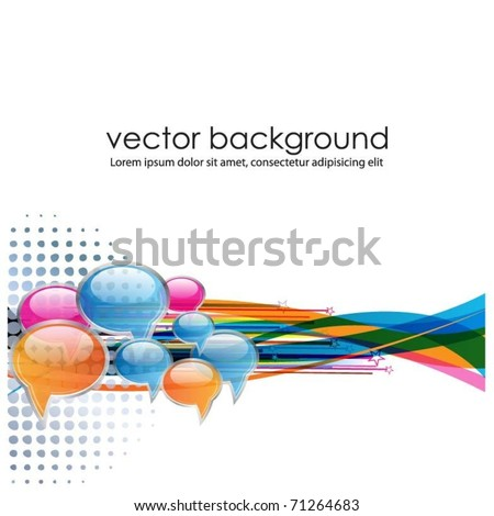 speech bubbles banner-vector - stock vector