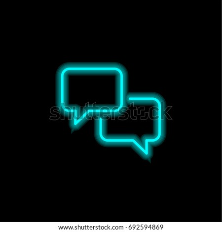 Speech Bubbles Blue Glowing Neon Ui Stock Vector 692594869 ...
