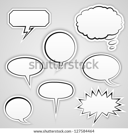 Speech Bubbles Collection | EPS10 Vector - stock vector