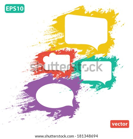 speech bubbles colorful collection set  isolated on white background. vector illustration.  - stock vector