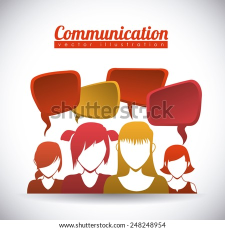 speech bubbles communication design, vector illustration eps10 graphic