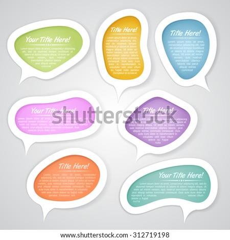 Speech bubbles design elements - stock vector