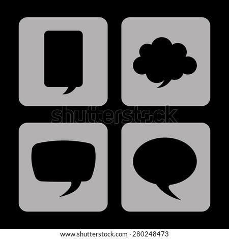 speech bubbles design, vector illustration eps10 graphic