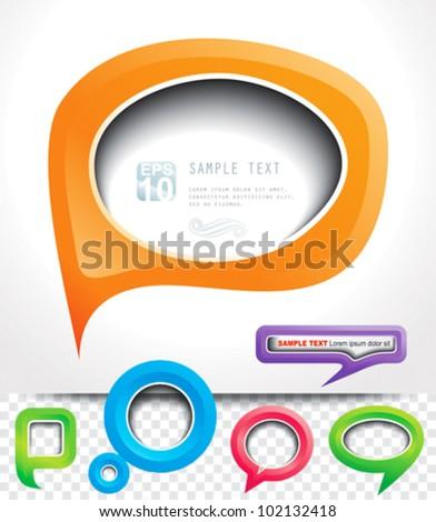 Speech Bubbles frame. - stock vector