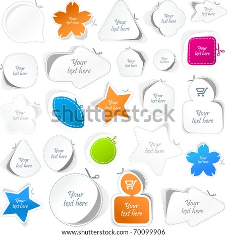 Speech bubbles. Great collection. - stock vector
