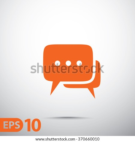 Speech bubbles icon.