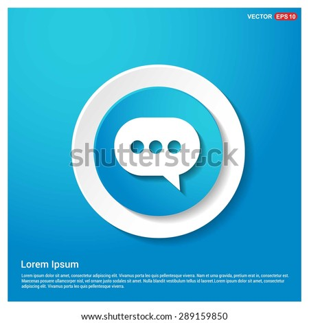 Speech bubbles icon - Chat icon - abstract logo type icon - blue icon on white sticker on black background. Vector illustration - stock vector