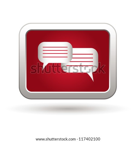 Speech bubbles icon. Vector illustration - stock vector