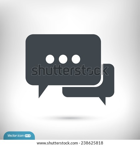 Speech bubbles icon. vector illustration with soft shadow on a gray background - stock vector