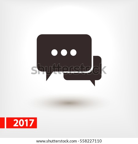 Speech bubbles icon. vector illustration with soft shadow on a gray background