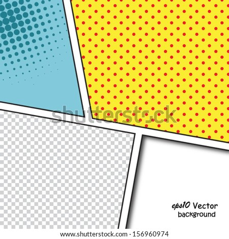 Speech Bubbles in Pop-Art Style background - stock vector