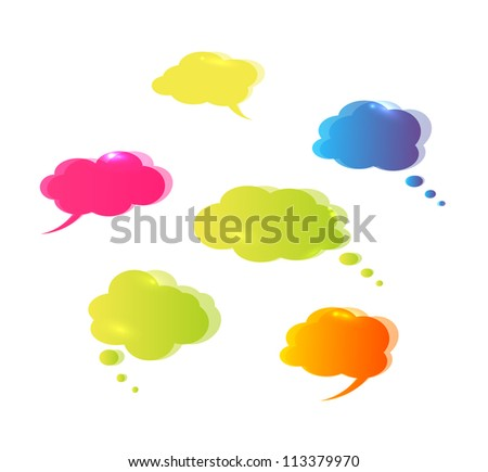 Speech bubbles isolated on white background. Vector illustration. - stock vector