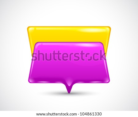 speech bubbles on the white background - stock vector