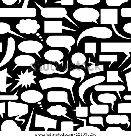 Speech bubbles seamless pattern. - stock vector
