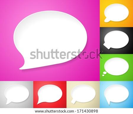 Speech bubbles, set of vector illustrations Eps 10. - stock vector