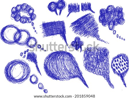 speech bubbles, sketch - stock vector