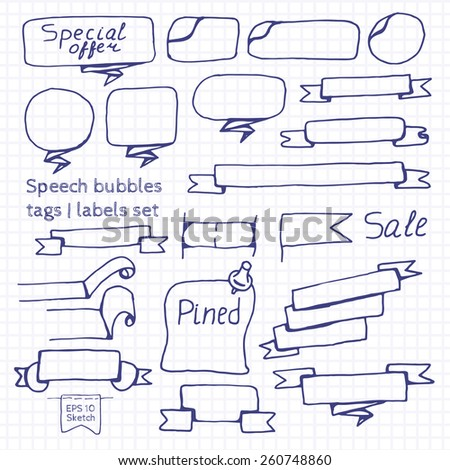 Speech bubbles | Tags | Labels