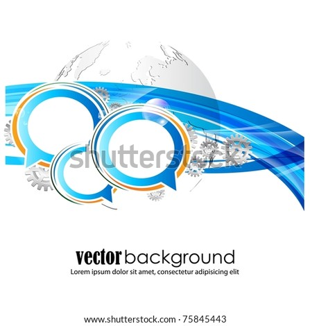 speech bubbles vector background - stock vector