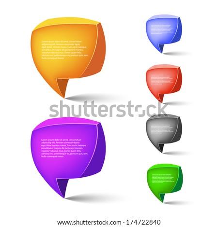 Speech bubbles. Vector illustration - stock vector