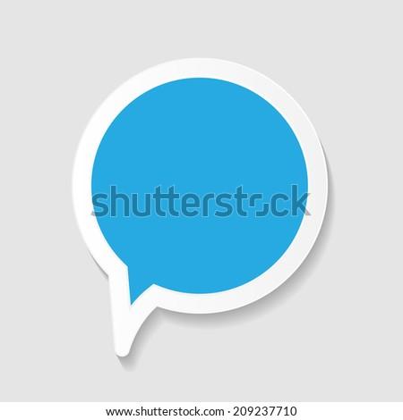 Speech Bubbles Vector Illustration - stock vector