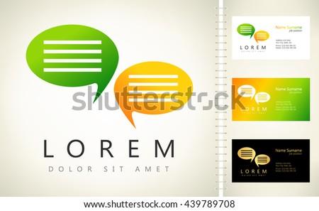 Speech bubbles vector logo - stock vector