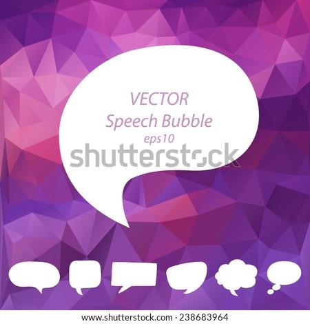 Speech bubbles vector set, EPS10 - stock vector
