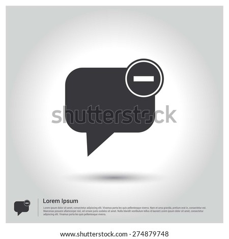 Speech bubbles with Cancel sign Icon - stock vector