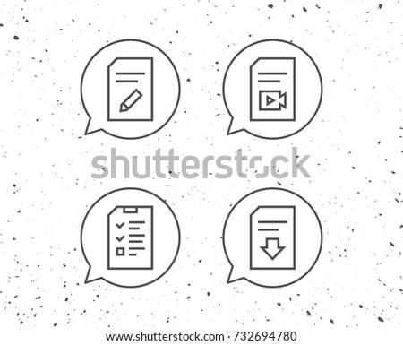 speech bubbles signs document checklist download stock vector