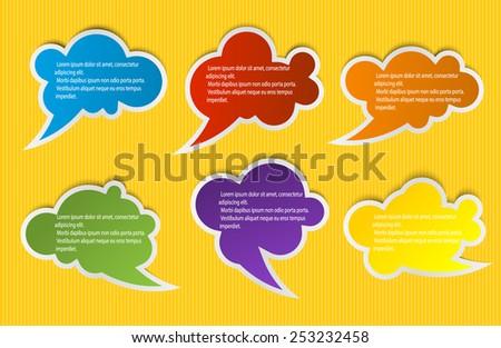 Speech colour bubbles set for design. eps10 vector - stock vector