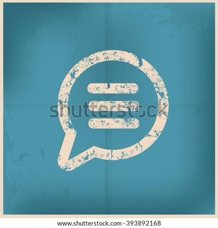 Speech design on old paper background, vector - stock vector