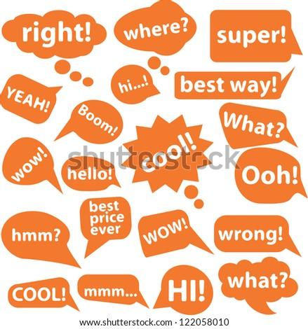 speech icons set, vector - stock vector