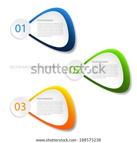 Speech object vector sign colorful on white background infographic for message and text modern website design - stock vector