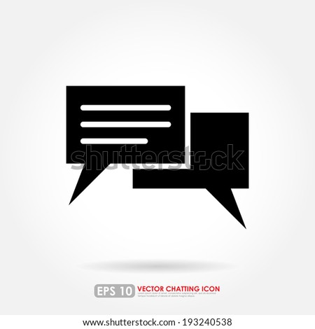 Speech or comment bubbles on white background - stock vector