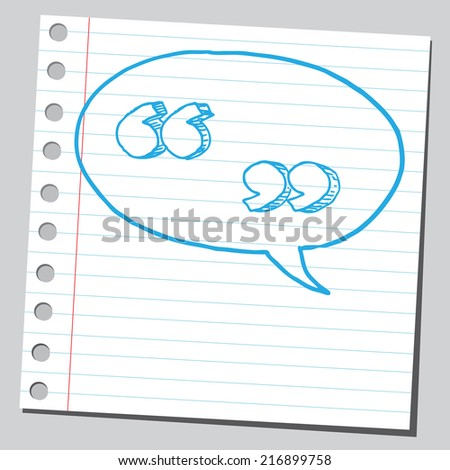 Speech quotes in comic bubble - stock vector