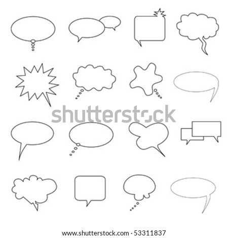 Speech, thought and talk bubbles