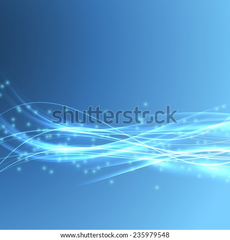 Speed bright swoosh wave blue modern bandwidth - light streak background. Vector illustration - stock vector