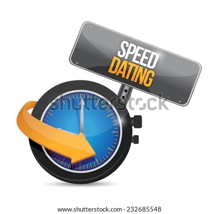 speed dating watch illustration design over a white background - stock vector
