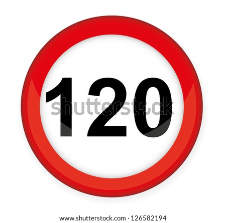 Speed Limit Glossy Sign,vector illustration.