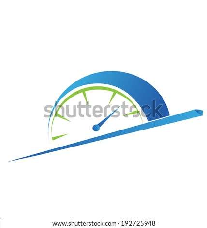 Speed meter fast -odometer vector icon - stock vector