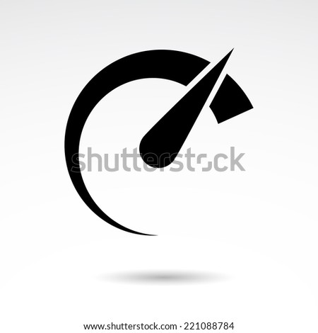 Speed meter icon isolated on white background. VECTOR icon. - stock vector