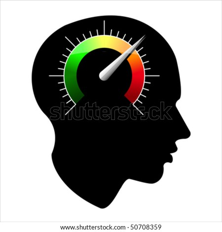 speed of the human mind, vector - stock vector