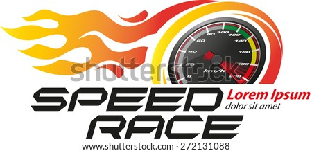 Speed Race Logo Event - stock vector