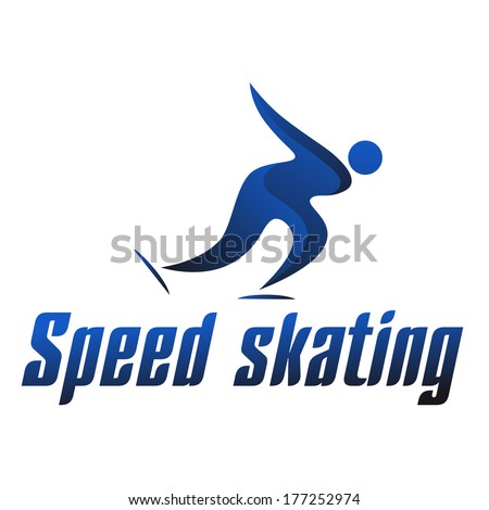 Speed skating logo