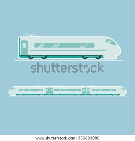 speed train,  transportation vehicles, Flat style vector illustration - stock vector