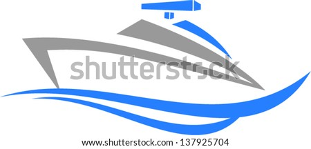 speedboat - stock vector