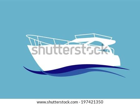 speedboat  - stock vector