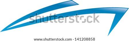 speedboat icon isolated - stock vector