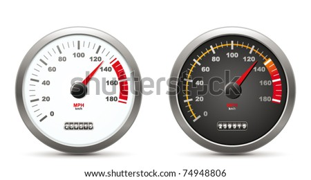 Speedometer - stock vector