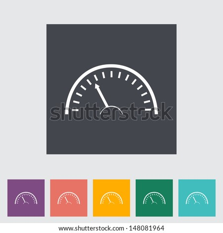 Speedometer flat icon. Vector illustration - stock vector